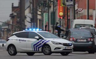 Une voiture de police belge à Molenbeek