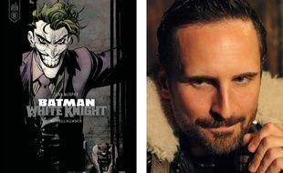 La couverture de Batman White Knight et son auteur, Sean Murphy