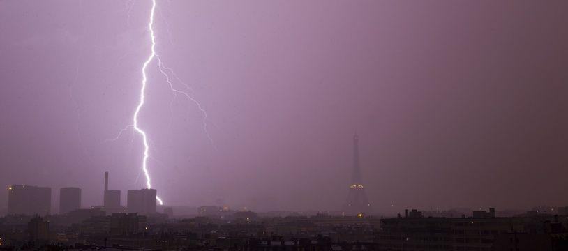 Un orage (illustration).