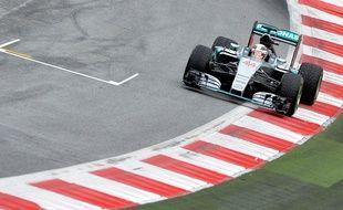 La Mercedes du Britannique Lewis Hamilton, le 20 juin 2015, en Autriche.