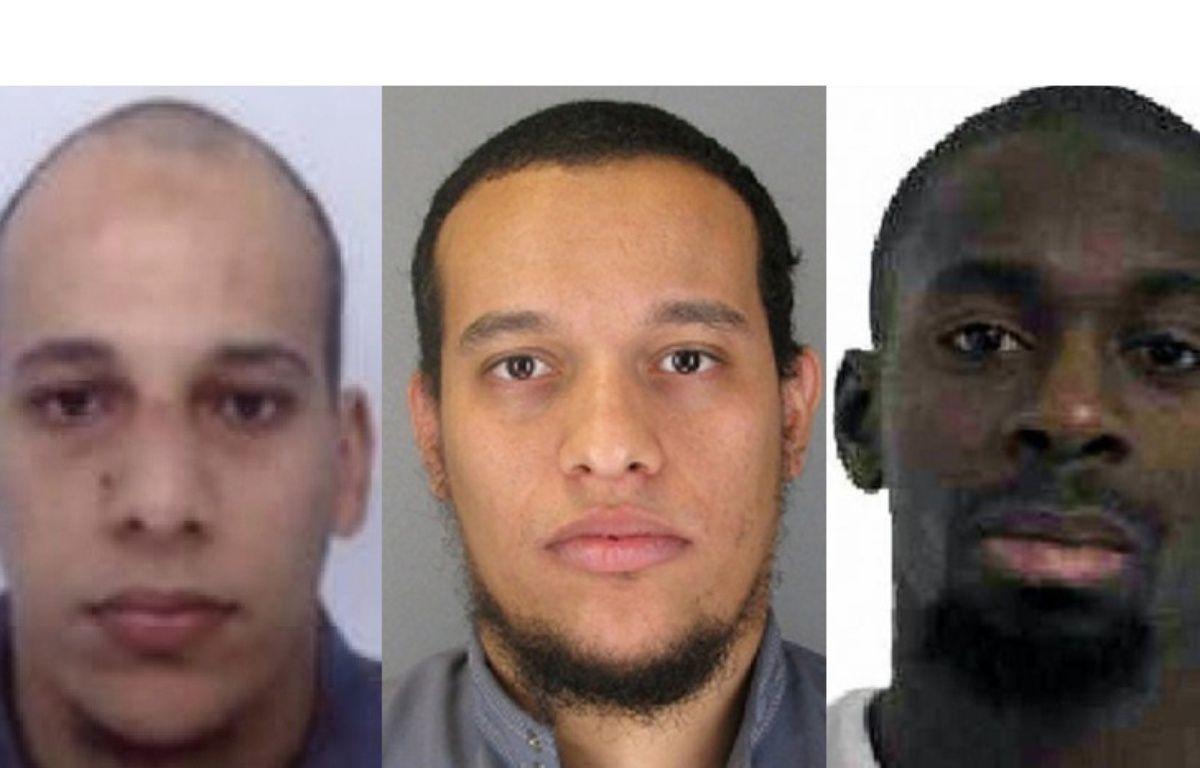 Les frères Kouachi et Amedy Coulibaly, suspectés des attaques contre «Charlie Hebdo», à Montrouge, Dammartin-en-Goële et Porte de Vincennes en janvier 2015. – DR