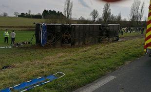 Une voiture a percuté un bus scolaire près d'Eauze faisant 27 blessés dont trois graves.