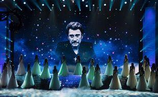 Hommage à Johnny Hallyday lors de l'élection de Miss France 2018
