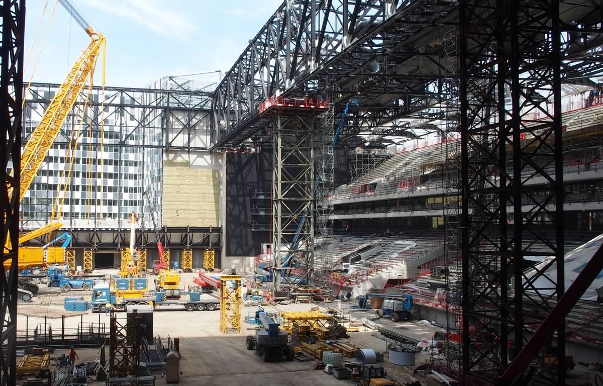 Nanterre, le 20 juin 2017. La salle U Arena en pleine construction. – C.ANGER