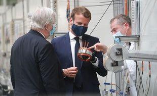 Emmanuel Macron à Etaples, le 26 mai 2020.