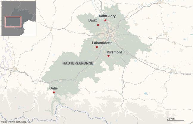 La carte d'implantation des radars tourelles en Haute-Garonne.