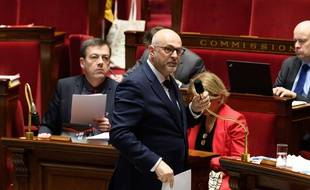 Laurent Pietraszewski, secrétaire d'Etat chargé des retraites, pendant les débats à l'Assemblée nationale.