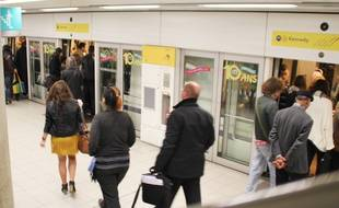 La station de métro République à Rennes.