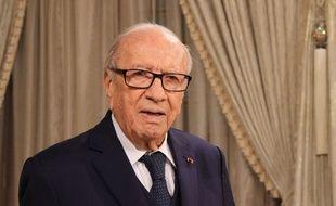 Le président tunisien Béji Caïd Essebsi le 12 janvier 2018 à Tunis
