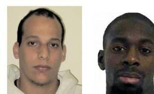 à gauche, Chérif Kaouchi. À droite, Amedy Coulibaly