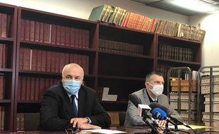 Le procureur de la République Pierre Sennes et le patron de la PJ Marc Perrot ont tenu une conférence de presse