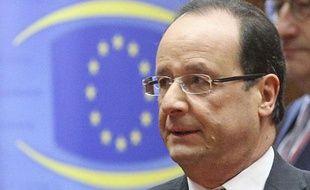 François Hollande au sommet de l'UE, Bruxelles, le 14 décembre 2012