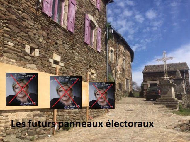 Les panneaux électoraux de Bonnevaux (montage maison).