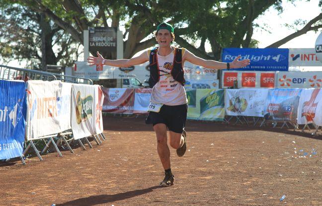 Alexandre Boucheix lors de son premier ultra-trail, la mythique Diagonale des Fous (165 km et 9.580 m de D+) à La Réunion en 2017.