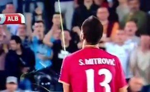 Mitrovic, le 14 octobre 2014 lors de Serbie-Albanie.