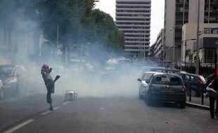 Des échauffourées à la fin d'un rassemblement pro-palestinien à Sarcelles, le 20 juillet 2014.