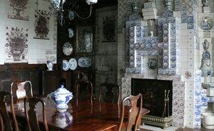 Salle à manger de la maison Victor Hugo, Hauteville House, à Guernesey.