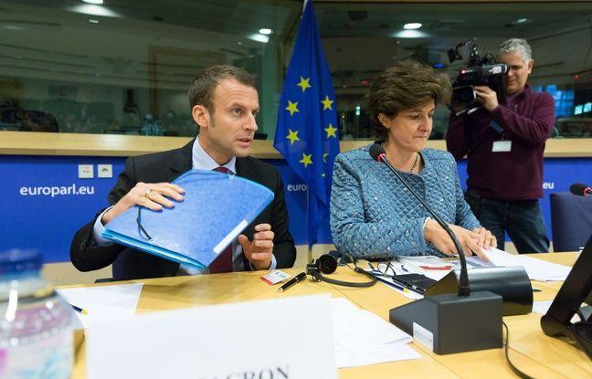Emmanuel Macron et Sylvie Goulard le 19 octobre 2016 à Bruxelles.