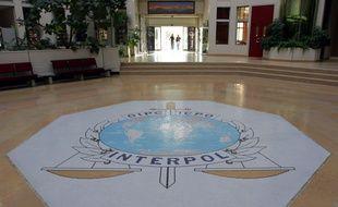 Vue de l'entrée du siège d'Interpol, à Lyon, le 16 ocotbre 2007.