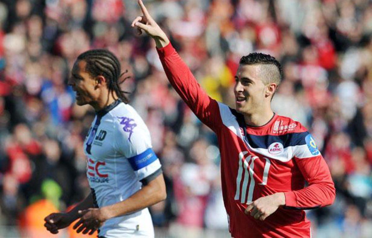 Le Lillois Eden Hazard contre Toulouse, le 1er avril 2012, à Villeneuve d'Ascq. – P.HUGUEN/AFP