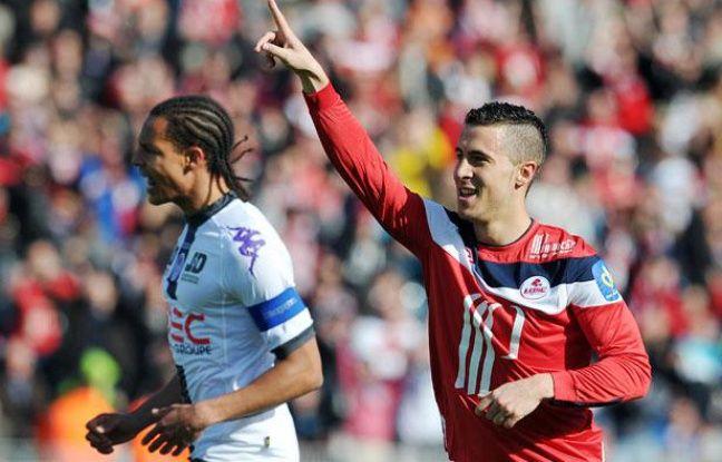 Le Lillois Eden Hazard contre Toulouse, le 1er avril 2012, à Villeneuve d'Ascq.