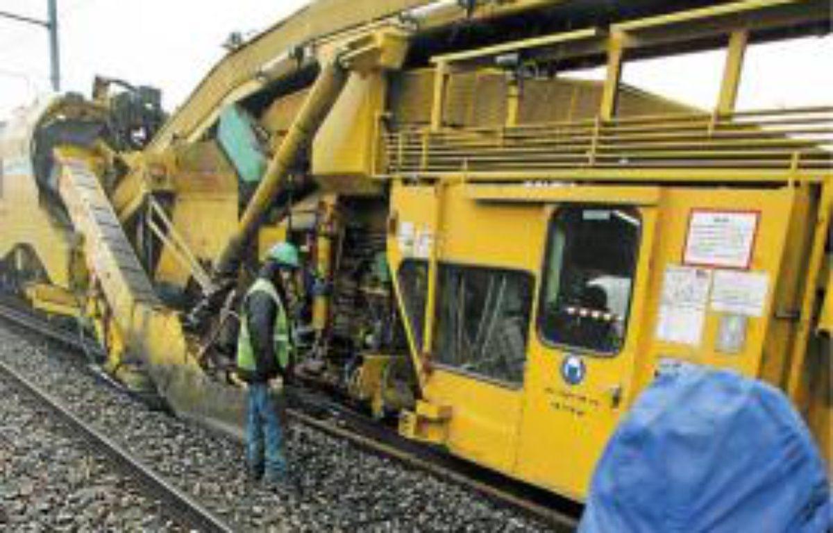Des ouvriers travaillaient sur un chantier SNCF, en juin 2012 –  f . scheiber / 20 minutes