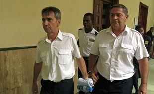 Bruno Odos et Pascal Jean Fauret le 9 mai 2014 à Sain-Domingue.
