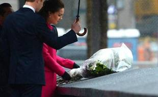 Le prince William et son épouse Kate au Mémorial du 11 septembre à New York le 9 décembre 2014