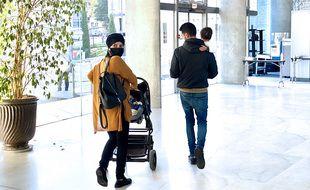 Le couple condamné à sa sortie du tribunal de Grasse ce mardi