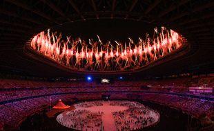 La cérémonie d'ouverture à Tokyo s'est faite dans un stade clos.