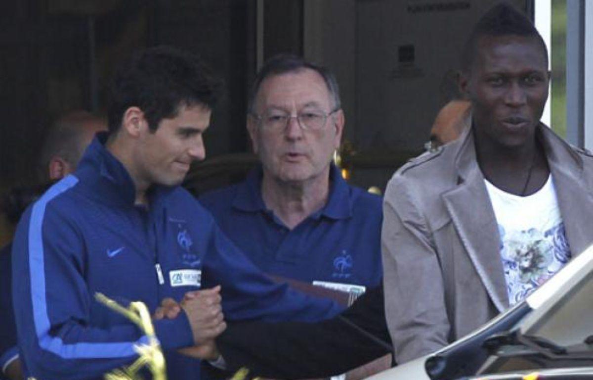 Christian Gourcuff et Yapou Yanga-Mbiwa, le 29 mai 2012 au Touquet. – C.Platiau / REUTERS
