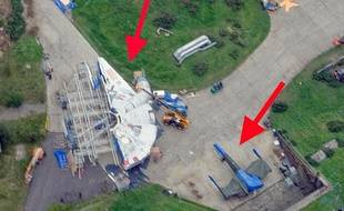 Une image du site de tournage du prochain «Star Wars» où l'on aperçoit notamment le Faucon Millenium.