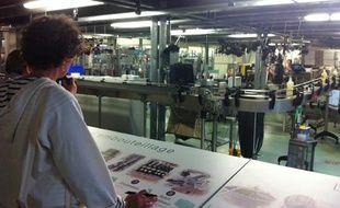 Visite guidée de l'usine du liquoriste Giffard à Angers le 25 juin 2013.