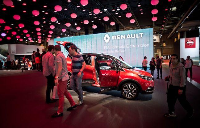 Le stand Renault au salon de l'auto, le 1er octobre 2016.