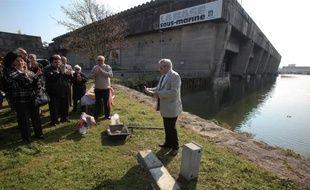 Antonio Cordoba a posé hier la première pierre du mémorial.