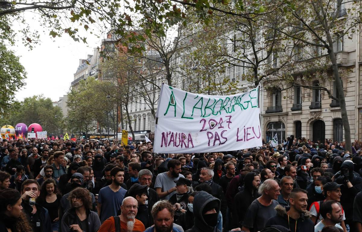 Manifestation contre la loi Travail à Paris, le 15 septembre 2016. – AFP