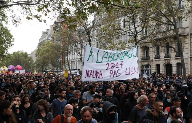 Manifestation contre la loi Travail à Paris, le 15 septembre 2016.