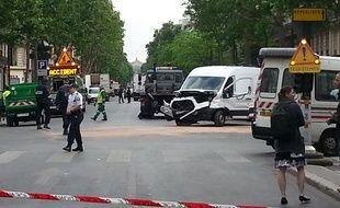 Accident boulevard Sébastopol à Paris