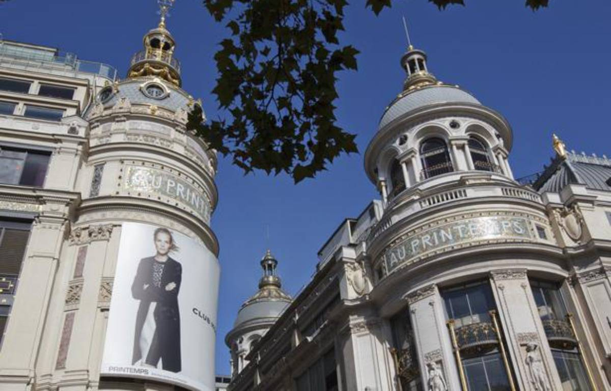 Le grand magasin Printemps, boulevard Haussmann à Paris. – A. GELEBART / 20 MINUTES