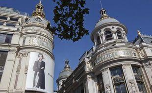 Le grand magasin Printemps, boulevard Haussmann à Paris.