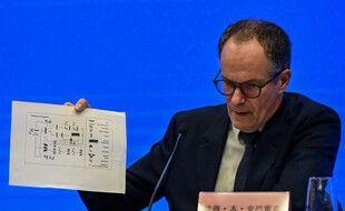 Peter Ben Embarek, chef de la délégation de l'OMS qui vient de mener une enquête à Wuhan, lors d'une conférence de presse ce mardi9 février.