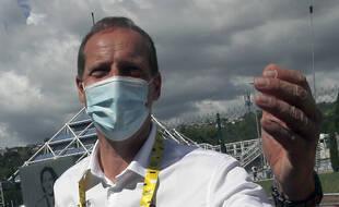 Le directeur du Tour de France Christian Prudhomme, à l'arrivée de la 3e étape à Sisteron le 31 août 2020.