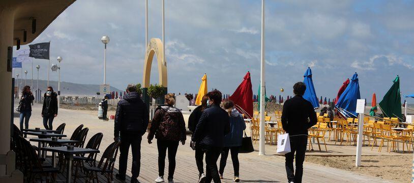 Les planches de Deauville en Normandie.