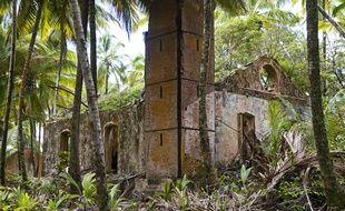 Ile du Diable (Guyane), le 12 février 2010. Photo prise en 2010 du bagne situé sur l'île du Diable, en Guyane.