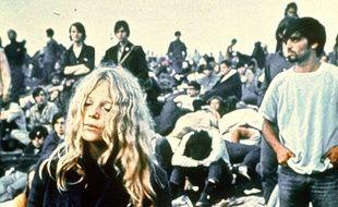 Des festivaliers à Woodstock en 1969.