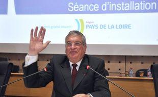 Jacques Auxiette, aprèssa réélection à la tête du conseil régional en 2010.