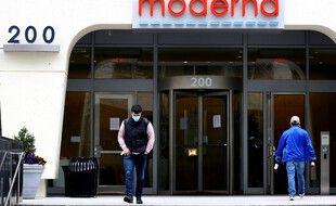 Le siège du laboratoire Moderna à Cambridge, aux Etats-Unis.