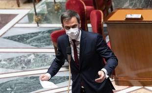 Olivier Véran, ministre de la Santé à l'Assemblée nationale le 1er avril 2021.