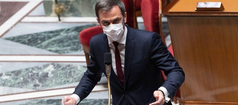 Olivier Véran, ministre de la Santé à l'Assemblée nationale le 1er avril 2021. (Illustration)