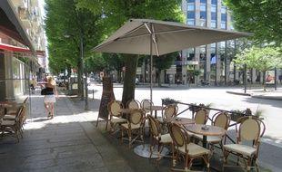 L'abattage des arbres de l'avenue Janvier doit permettre d'agrandir les terrasses.
